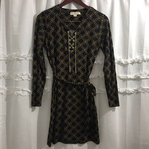 Michael Kors Chainlink print Gold Chain Dress